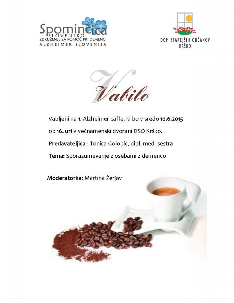 Vabilo Alzheimer kaffe
